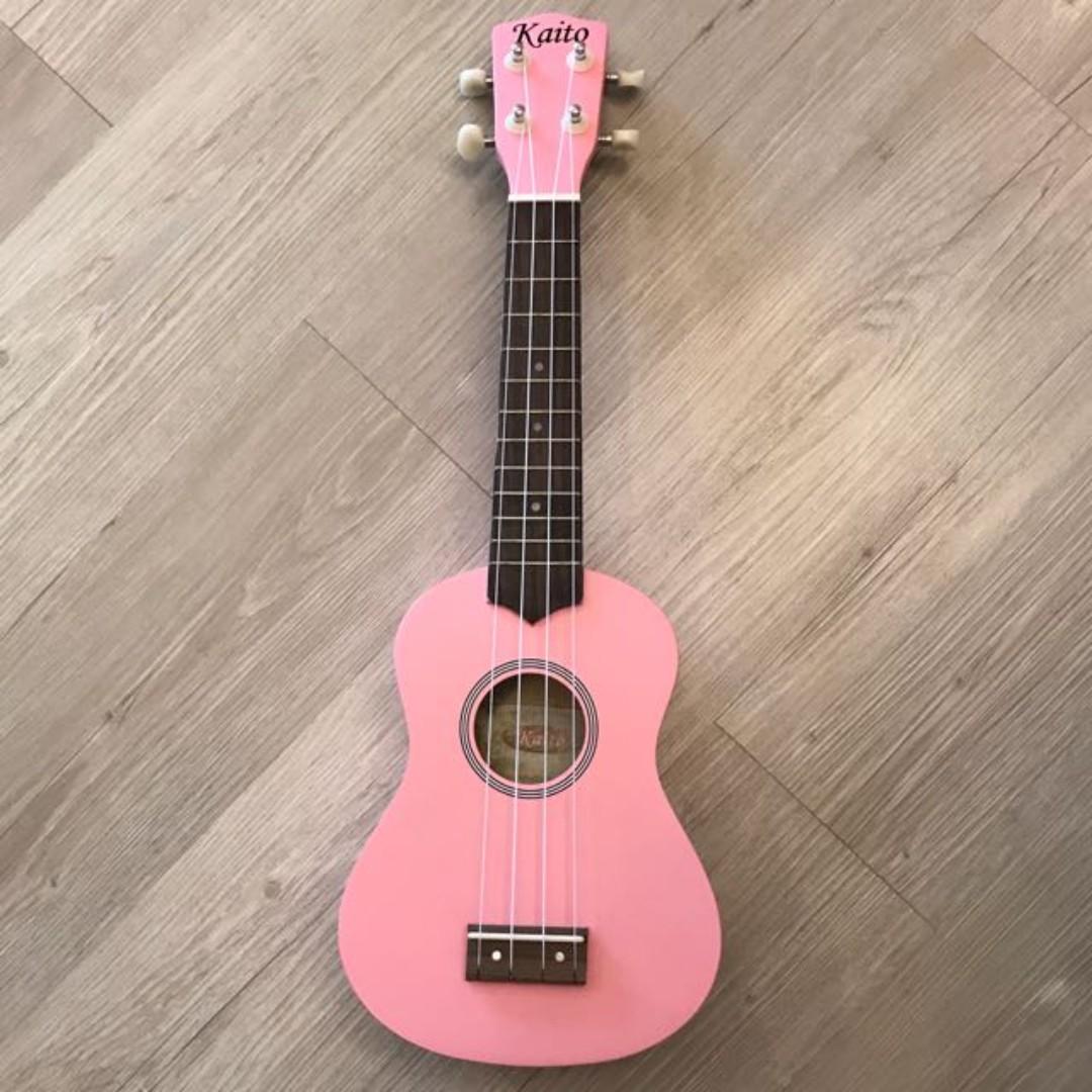 wts kaito ukulele pink $30, music & media, music instruments on