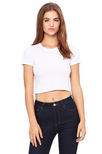 99a8d4676203fe ZARA White Crop Top, Women's Fashion, Clothes, Tops on Carousell