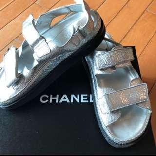 Chanel 涼鞋 真品 $1600 Size 38