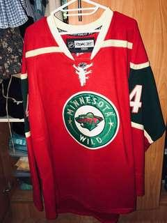 Red and Green Jersey Top