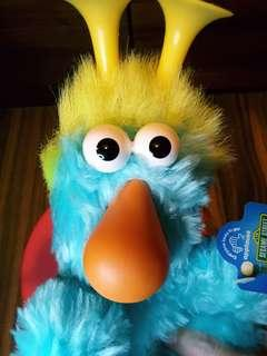 1992 罕見絕版全新芝麻街公仔 23cm vtg Electric Blue Honker Plush Sesame Street Applause