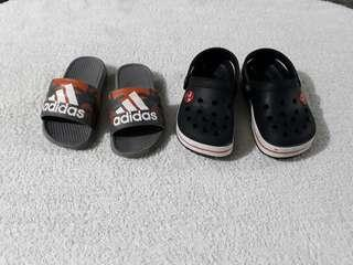 Take All 2 Adidas and Crocs Replica (Not Auth) for toddlers size 21 fits 2-3 y/o