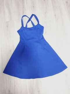 KITSCHEN Royal Blue Skater Dress