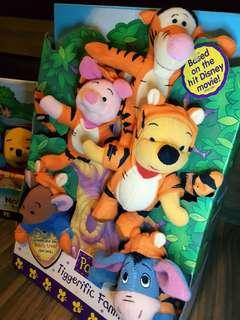 Winnie the Pooh 公仔 Tiggerific Family Plush set Fisher Price Mattel 1999 vtg