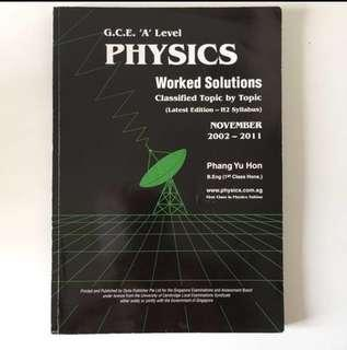 "GCE ""A"" Level Physics Work Solutions"
