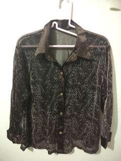 Baju Dark Coklat Transparan