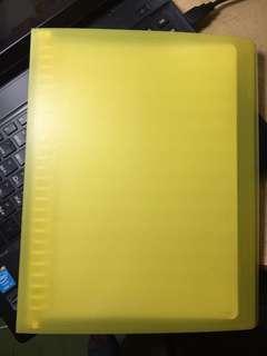 空白樂譜筆記本_柳橙黃