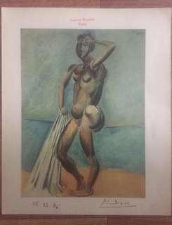 **LAST ONE** Picasso 1946 Lithograph hand signed & Paris Gallery stamp