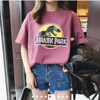 LOOKING FOR Jurassic Park T Shirt Casual Top (Preorder or Readystock) - Purple
