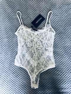 Pretty Little Thing White Bodysuit