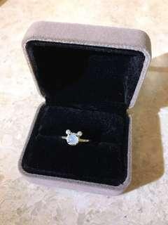<清倉>925純銀碎石米奇翡翠戒指