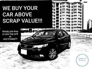 We Buy Your Car Above Scrap Value..!