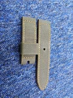 24mm handmade military green canvas strap