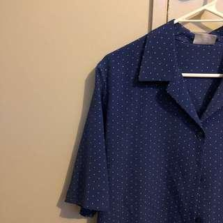 Blue Polka Dot Blouse