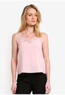 Pink Lace Detail Cami