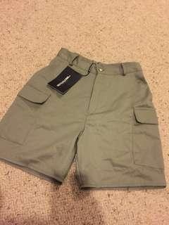 NEW high waisted safari khaki army style shorts