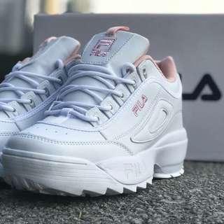 Fila White Pink Size 36-40
