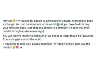 International book swap