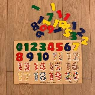 Melissa & Doug counting puzzle