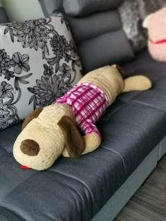 Sleeping dog 70 to 80 cm- stuffed toy