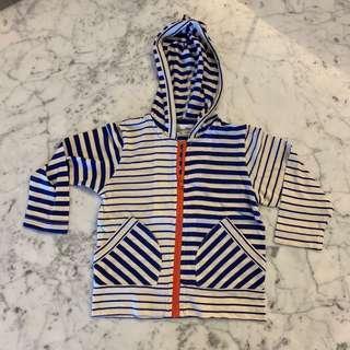 Love & Peace & Money striped outerwear