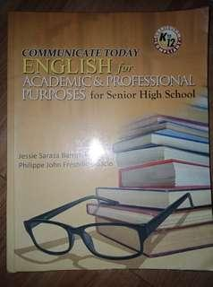 English for Academic & Professional Puposes