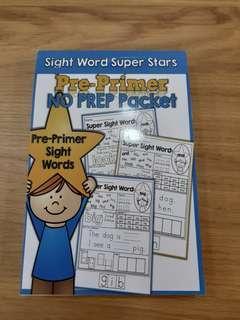 Sight words pre primer pack