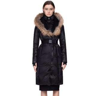 RUDSAK belted Down Jacket Fur Hood Trim