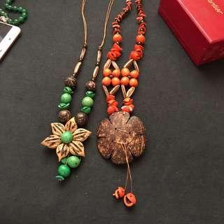 Summer floral necklace hawaiian
