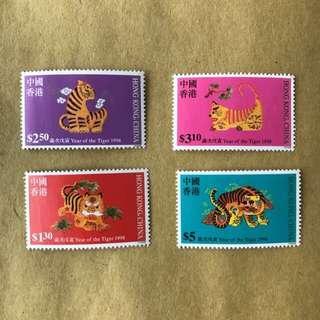 十二生肖 1998戊寅虎年郵票