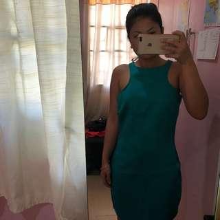 Mango Formal emerald green dress