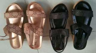 Gucci inspired wedge sandals