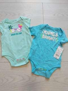 🚚 BNWT from US 2pc 0-3m Baby Romper set - Vacay all day