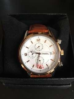 Faleda sapphire & genuine leather watch 男士手錶