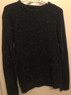 Speckled Sweater w/ Elbow Patches