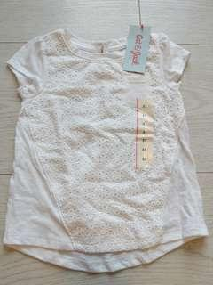 🚚 BNWT from US White Blouse 3T