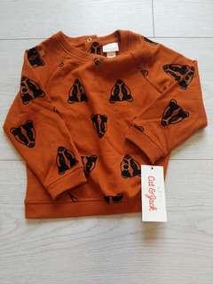 🚚 BNWT 18m brown animal print Baby sweater