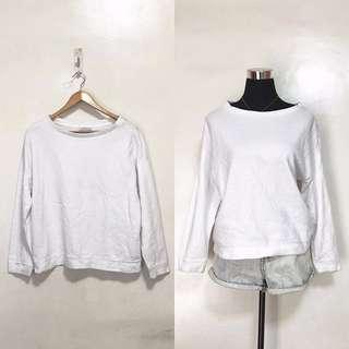 ZARA White Oversized Pullover