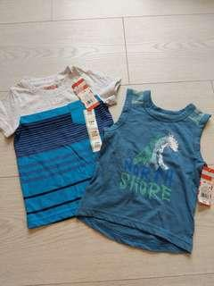 🚚 BNWT from US 18m 2pc tshirt and singlet set - for the beach