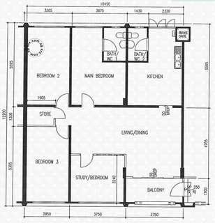 5-room flat (5th floor) for sale at 812 Jurong West Street 81