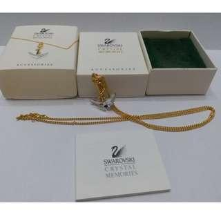 SWAROVSKI Crystal Memories BOAT ANCHOR Pendant Necklace MIB COA