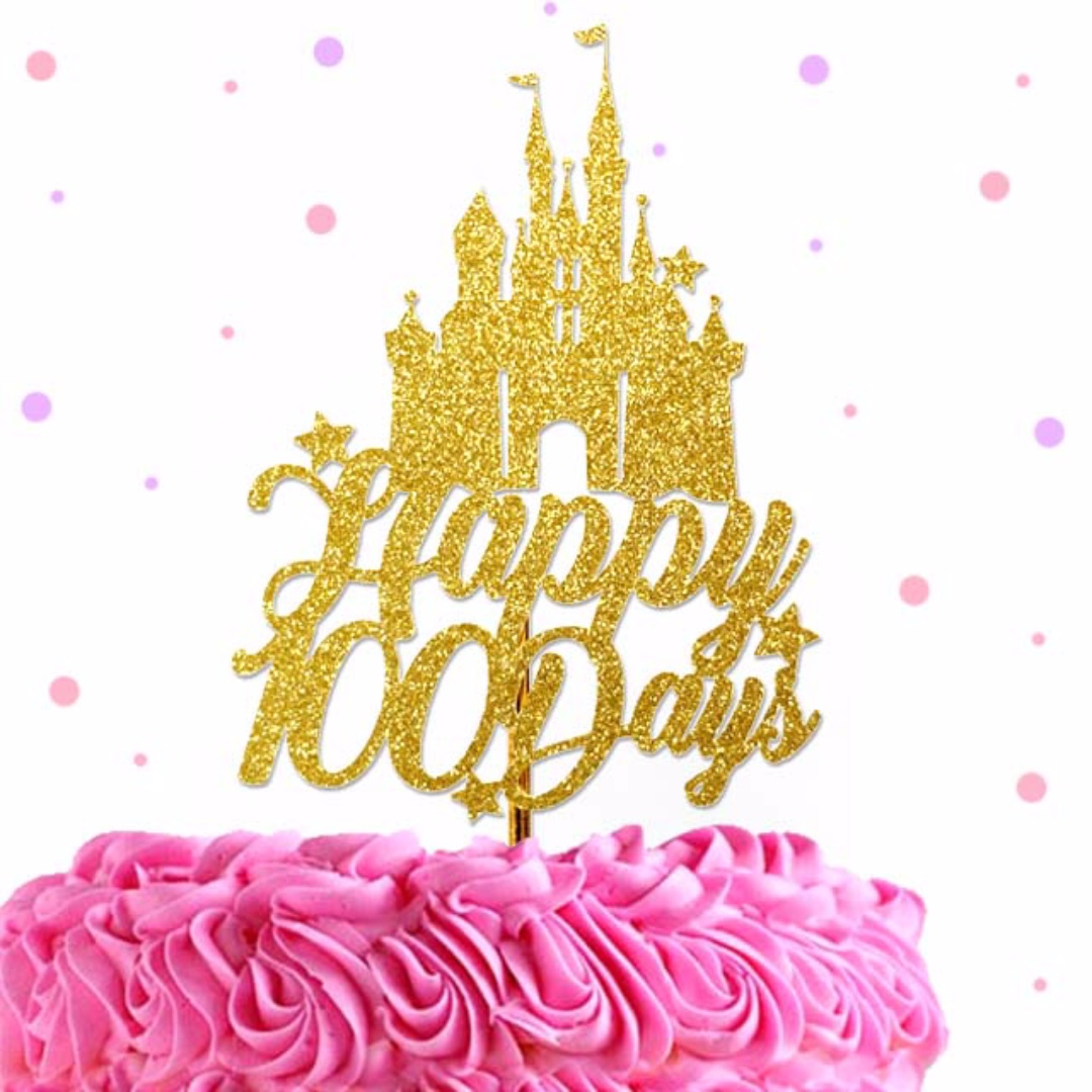 100 Days Cake Topper Prince Princess Castle Custom