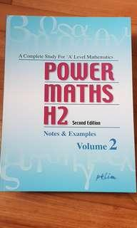 Power maths h2 second edition notes and examples volume 2  pk lim