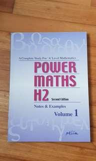 Power maths h2 2nd edition notes and examples volume 1 pk lim