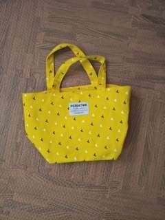 🚚 日本製 黃色手提袋 便當袋