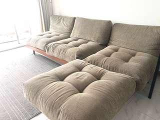 L-shaped sofa for $80
