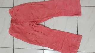 Jeans corduroy orange