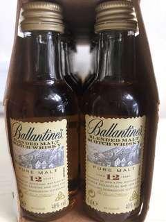 Ballantines Pure Malt 12 年酒辦一支