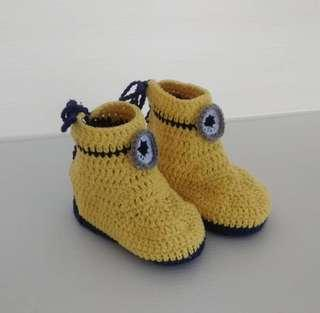 Minion Hand Crochet Baby Shoes (Pre-walker)