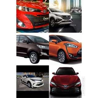 All type of new toyota for sale